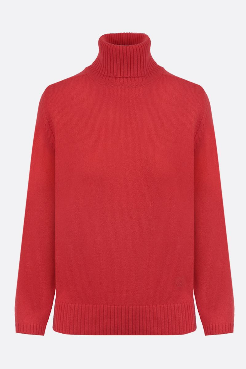 GUCCI: Interlocking G embroidered cashmere turtleneck Color Red_1