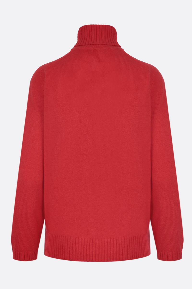 GUCCI: Interlocking G embroidered cashmere turtleneck Color Red_2