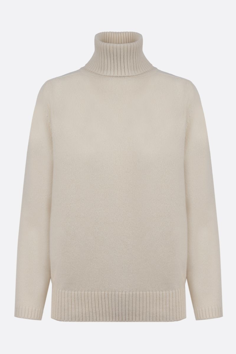 GUCCI: Interlocking G embroidered cashmere turtleneck Color White_1