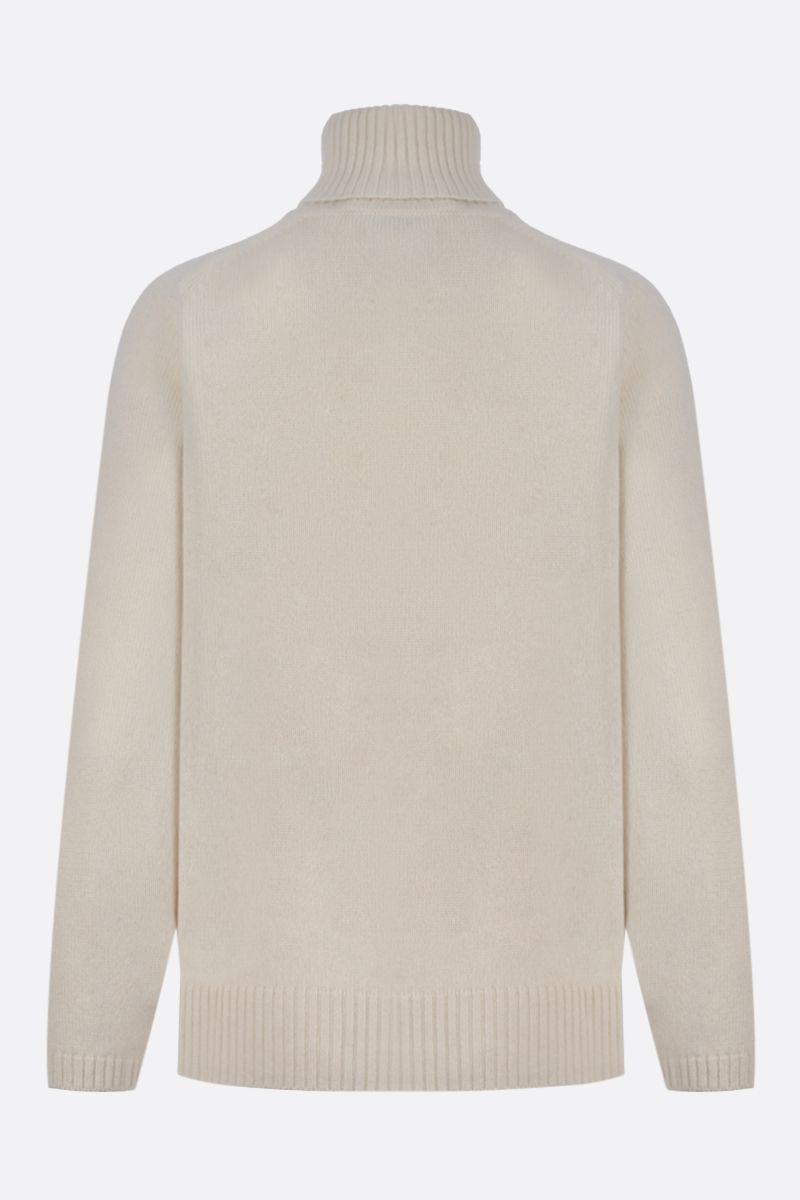 GUCCI: Interlocking G embroidered cashmere turtleneck Color White_2