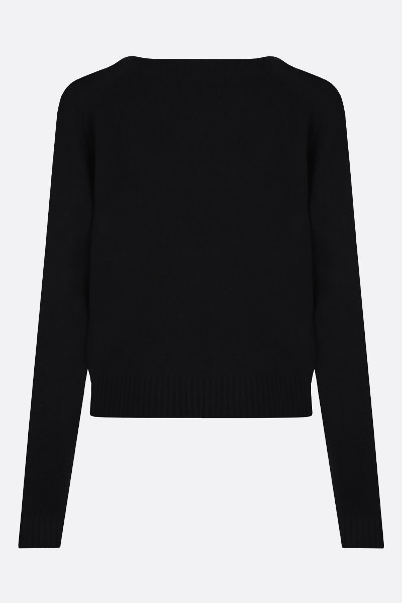 GUCCI: Horsebit-detailed cashmere pullover Color Black_2
