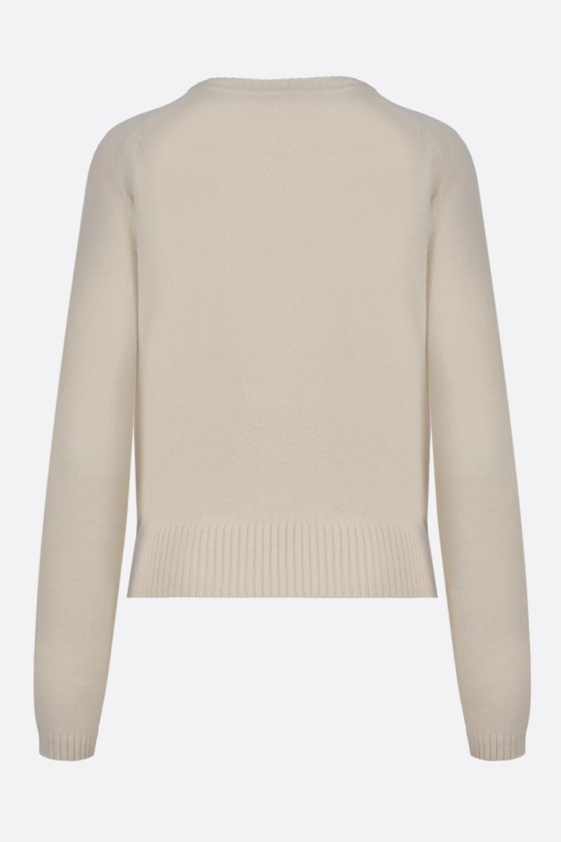 GUCCI: Horsebit-detailed cashmere pullover Color White_2