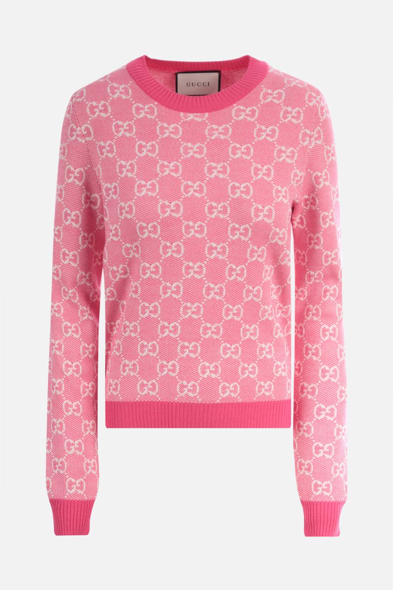 GUCCI: GG wool cotton blend pullover Color Pink_1
