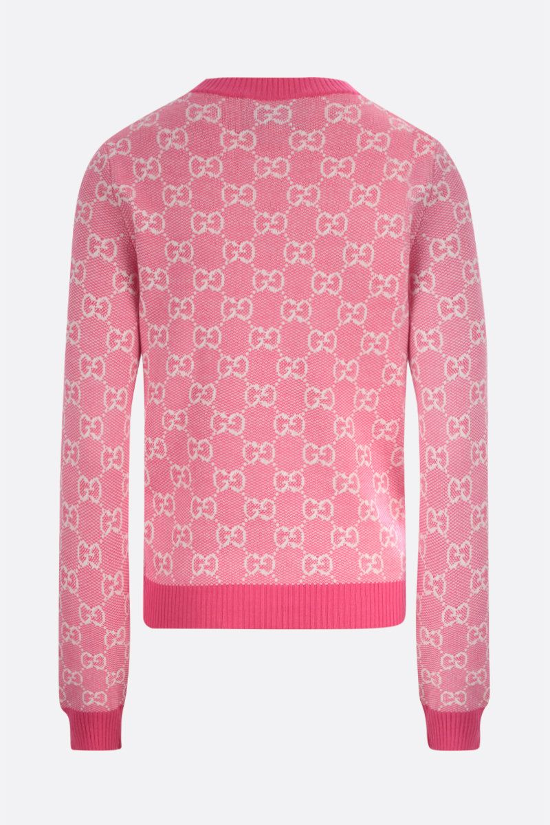 GUCCI: GG wool cotton blend pullover Color Pink_2