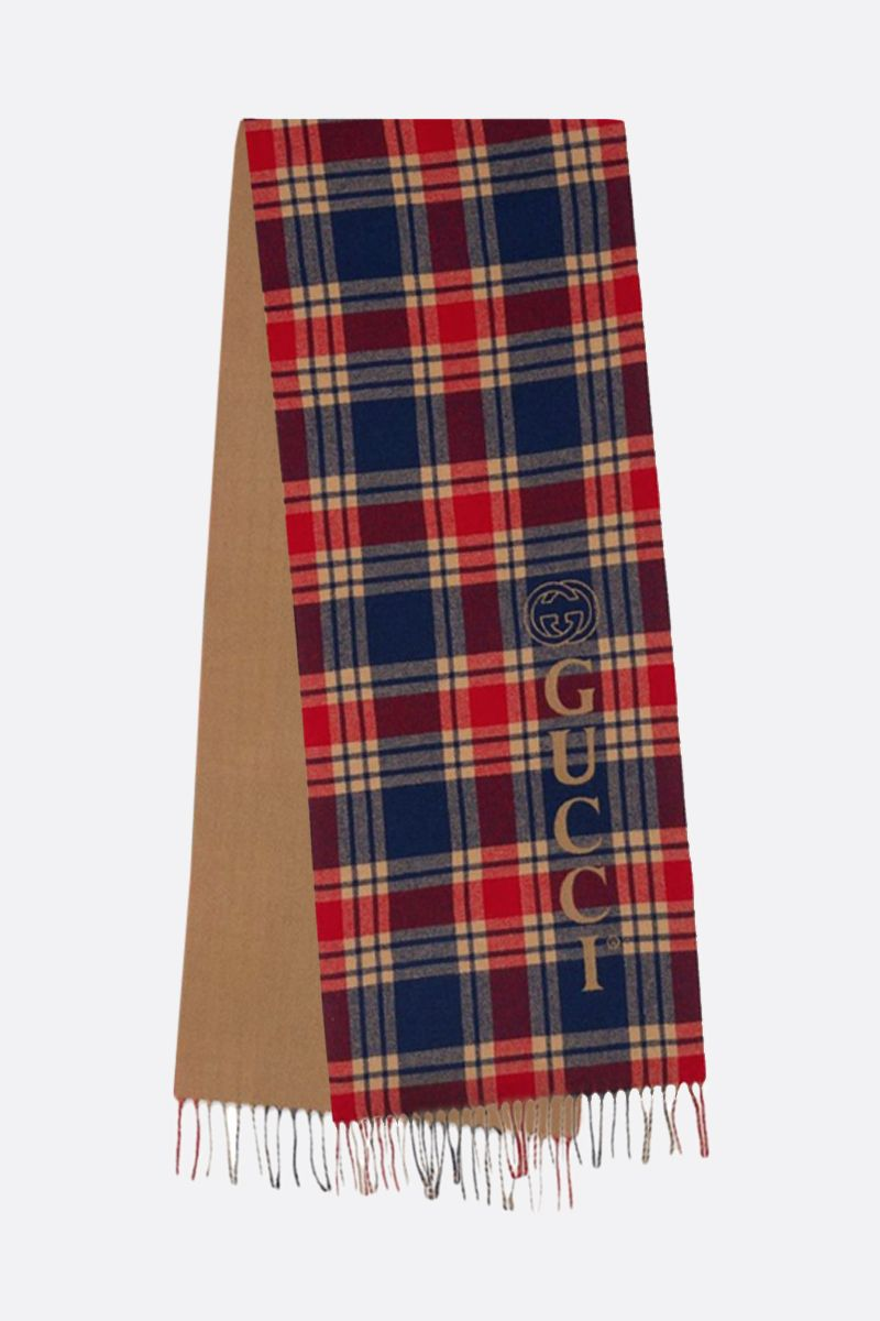 GUCCI: check wool cashmere scarf_2