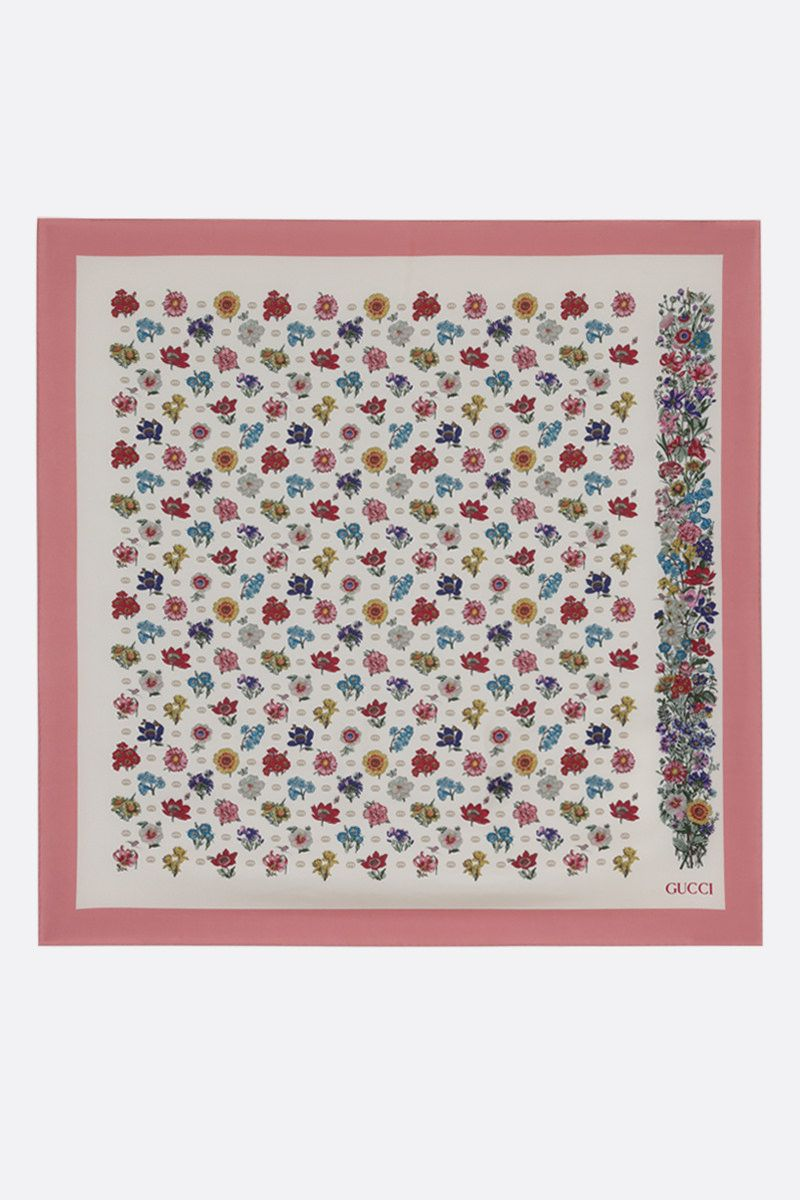 GUCCI: GG Flora silk twill foulard Color Multicolor_2