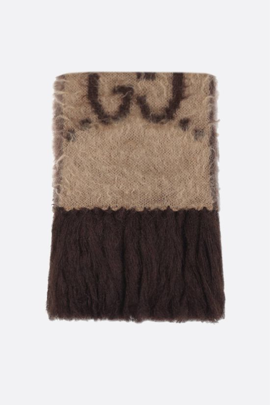 GUCCI: GG mohair wool scarf_1