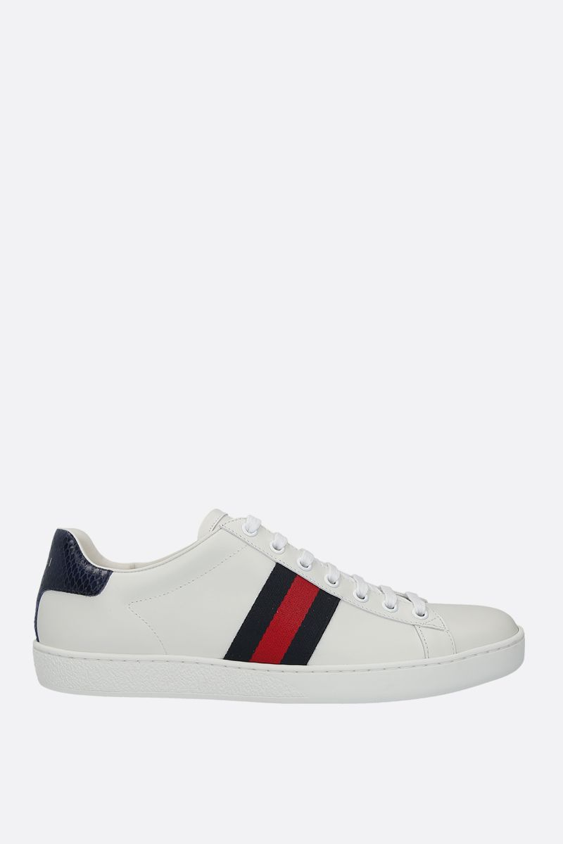 GUCCI: Ace smooth leather sneakers Color Neutral_1