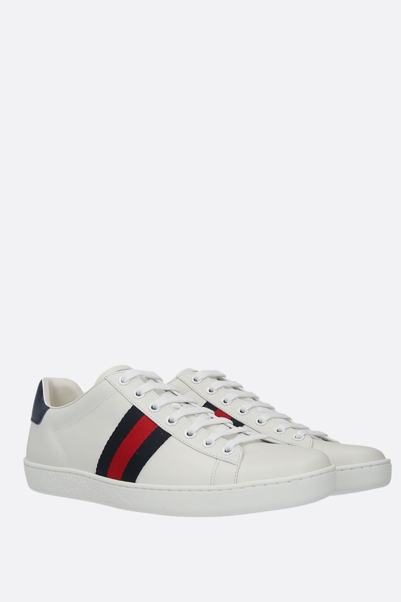 GUCCI: Ace smooth leather sneakers Color Neutral_2