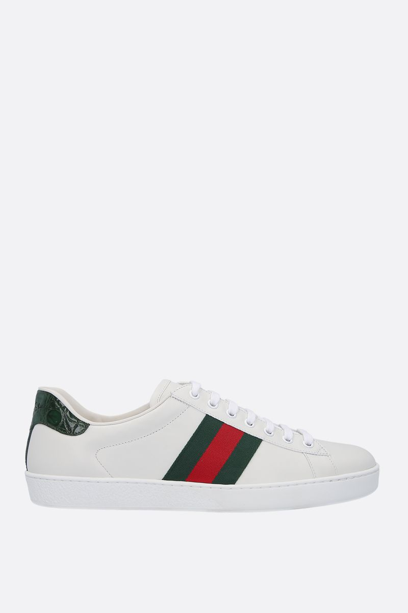 GUCCI: Ace smooth leather sneakers Color White_1