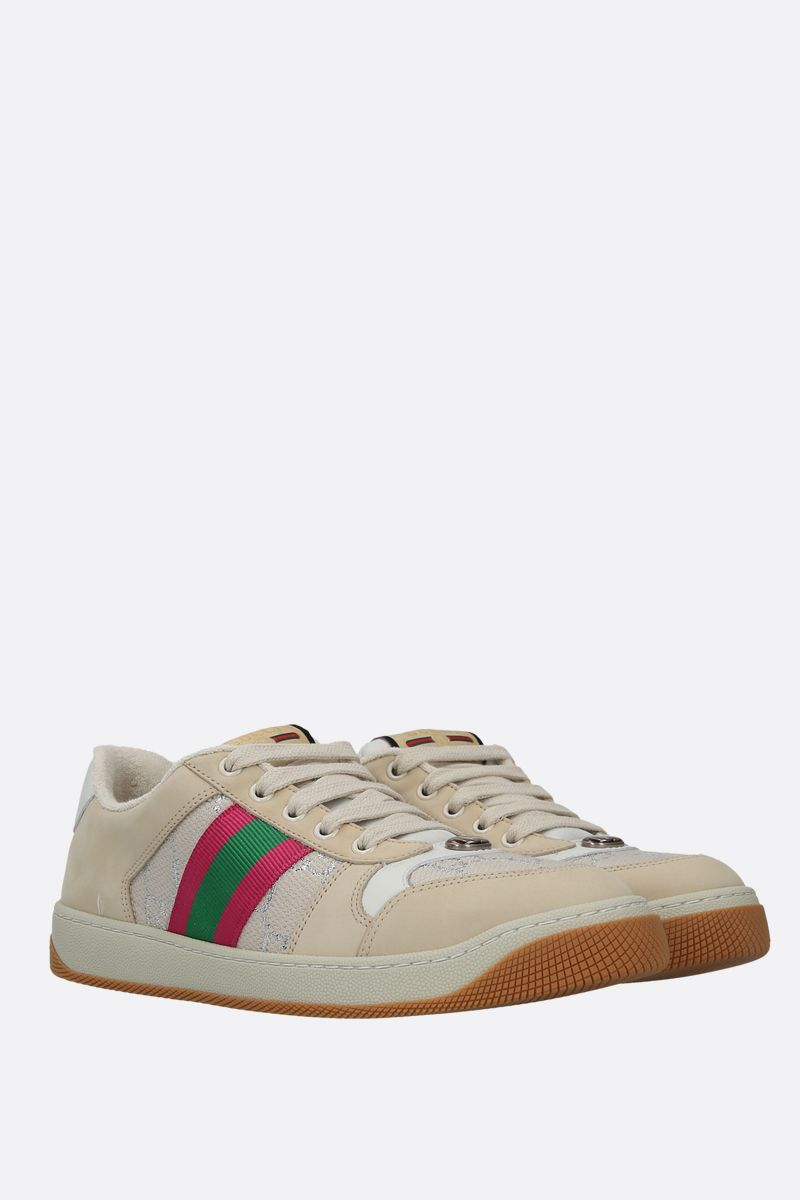 GUCCI: Screener nabuck and GG canvas sneakers_2