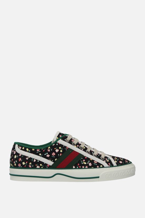 GUCCI: Gucci Tennis 1977 printed canvas sneakers Color Multicolor_1