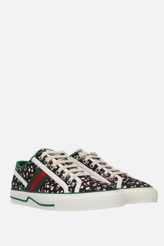 GUCCI: Gucci Tennis 1977 printed canvas sneakers Color Multicolor_2