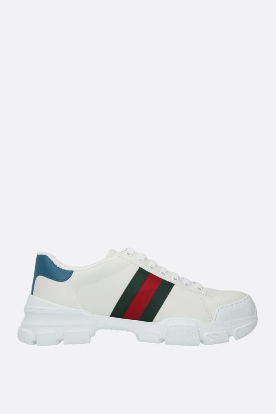 GUCCI: Nathan smooth leather sneakers Color White_1
