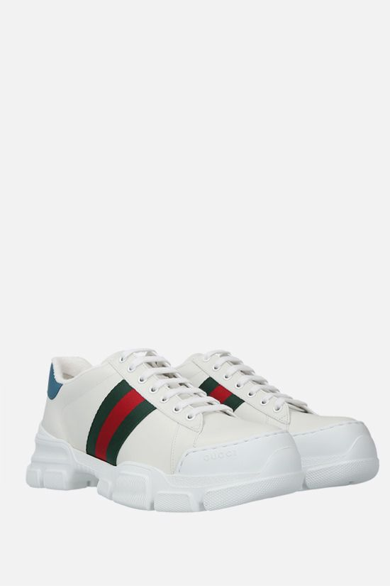 GUCCI: Nathan smooth leather sneakers Color White_2