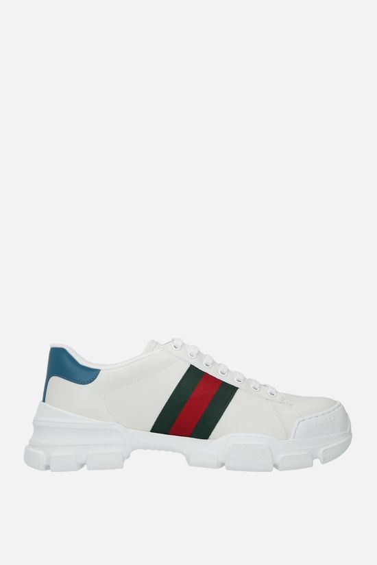 GUCCI: Ace smooth leather sneakers Color Multicolor_1