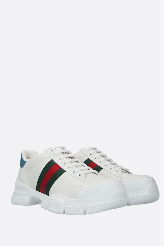 GUCCI: Ace smooth leather sneakers Color Multicolor_2