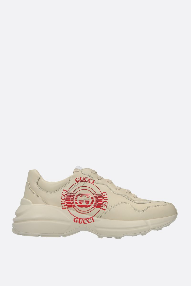 GUCCI: Rython smooth leather sneakers Color White_1