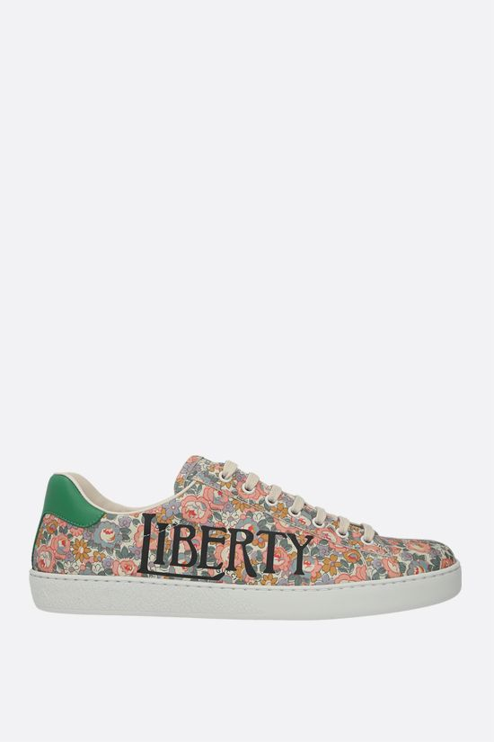 GUCCI: Ace floral canvas sneakers Color Multicolor_1