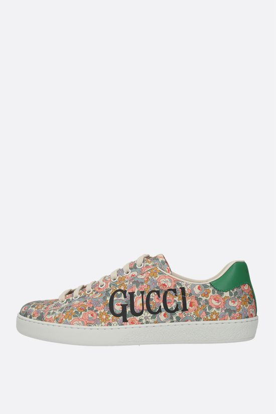 GUCCI: Ace floral canvas sneakers Color Multicolor_2