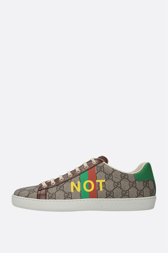 GUCCI: Ace Fake/Not print GG Supreme canvas sneakers Color Multicolor_2