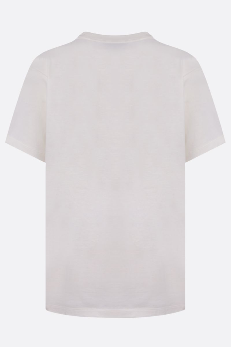 GUCCI: Gucci disk print cotton t-shirt Color White_2