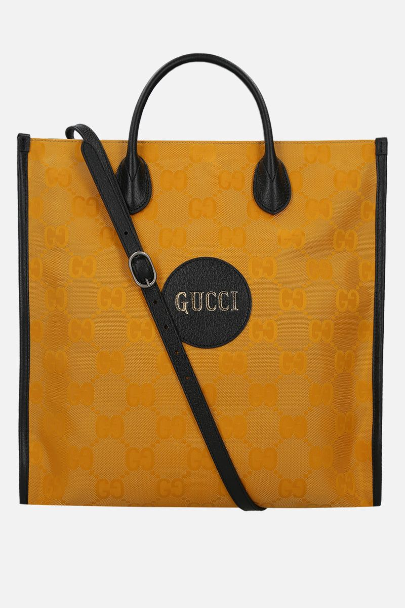 GUCCI: borsa tote Gucci Off The Grid in ECONYL® Colore Giallo_1