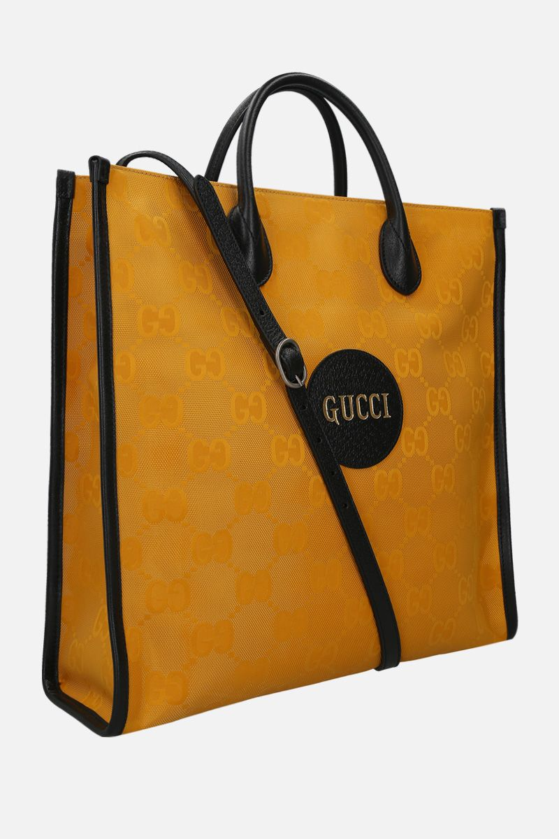 GUCCI: borsa tote Gucci Off The Grid in ECONYL® Colore Giallo_2