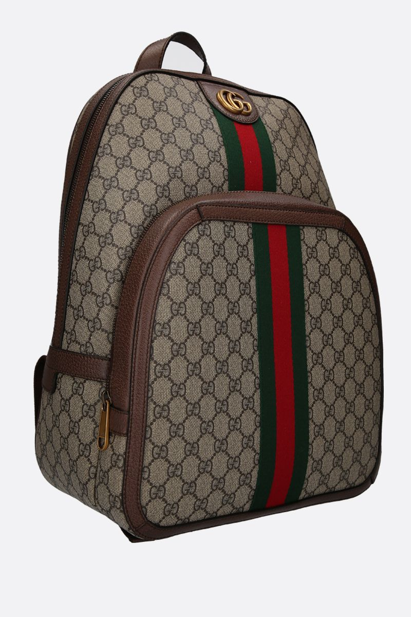 GUCCI: medium Ophidia GG Supreme canvas backpack Color Multicolor_2