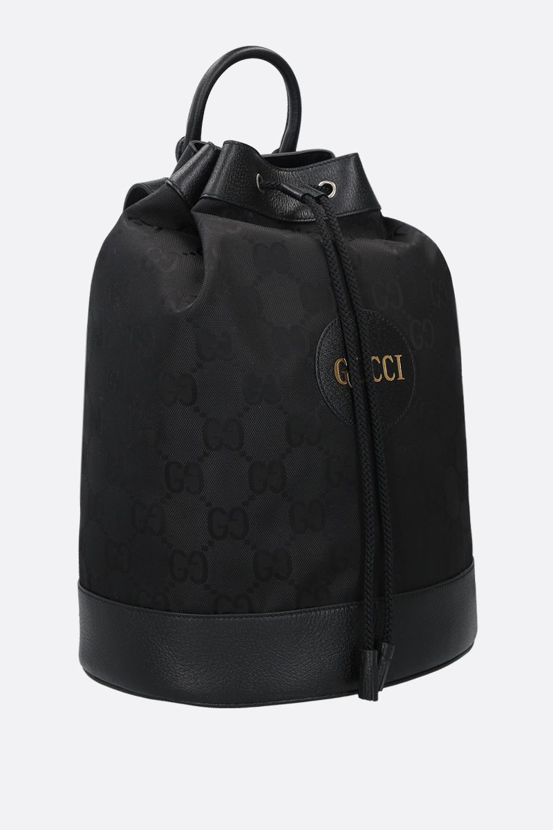 GUCCI: Gucci of the Grid bucket backpack in ECONYL® Color Black_2