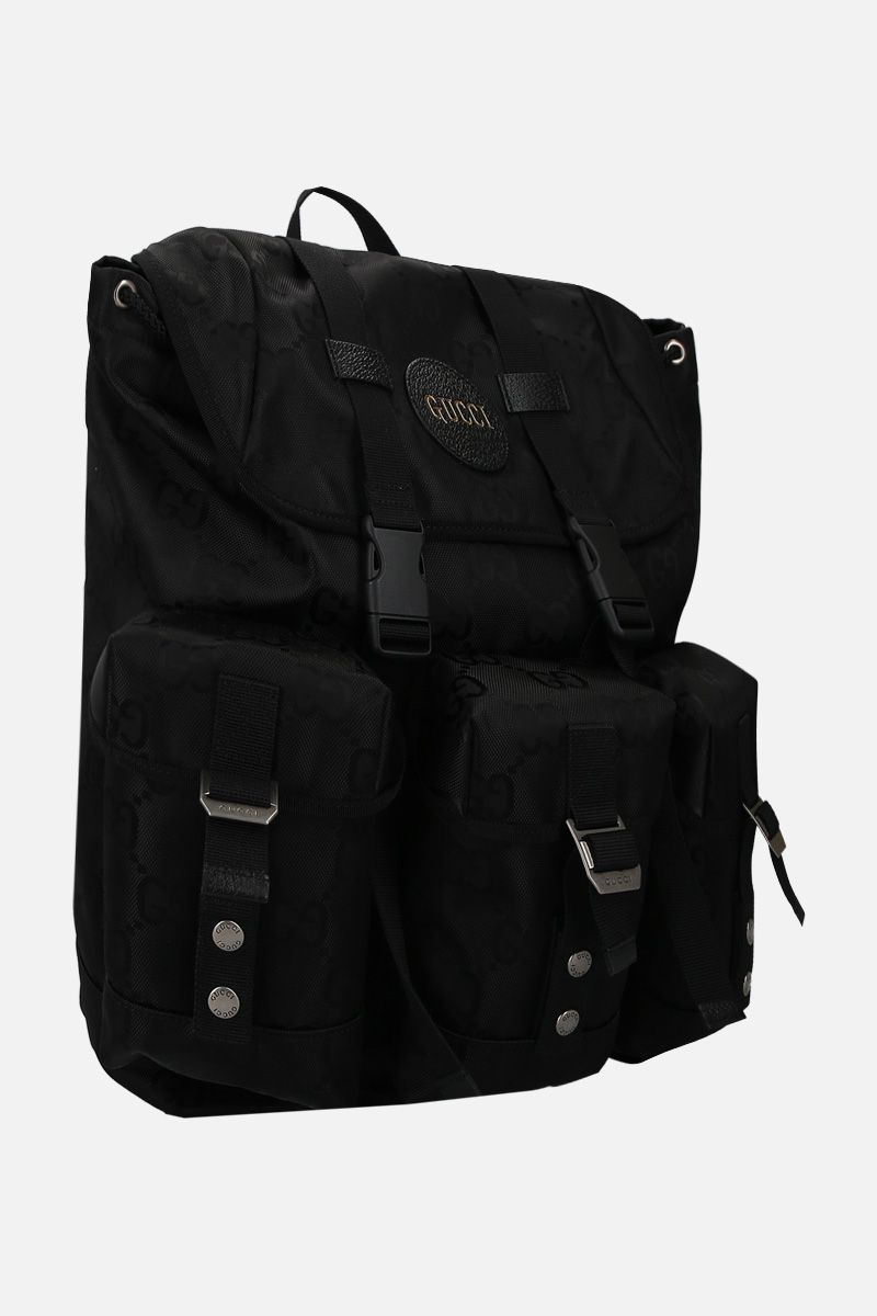 GUCCI: Gucci Off The Grid backpack in ECONYL® Color Black_2