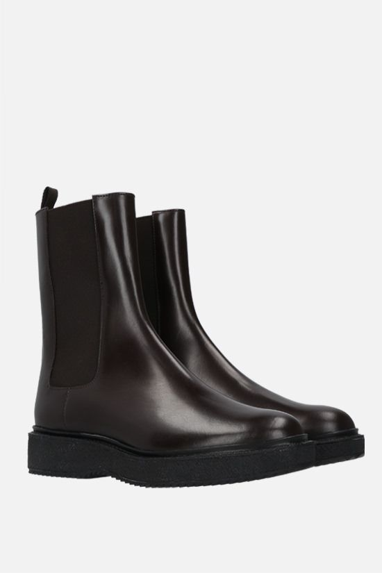 HAZY: shiny leather chelsea boots Color Brown_2