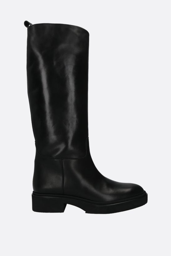 HAZY: shiny leather boots Color Black_1