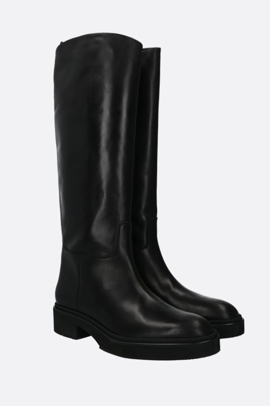 HAZY: shiny leather boots Color Black_2