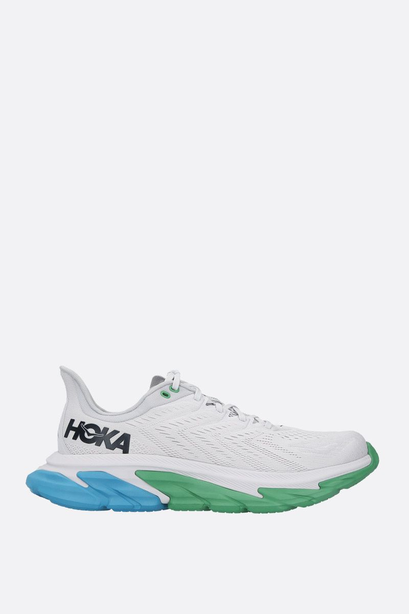 HOKA ONE ONE: Clifton Edge tech knit sneakers Color Green_1