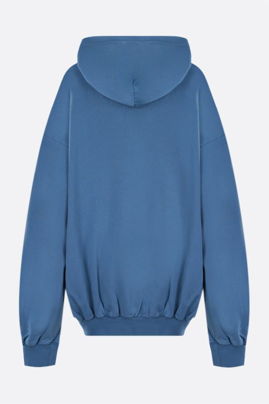 IRENEISGOOD: Rainbow oversize cotton hoodie Color Blue_2