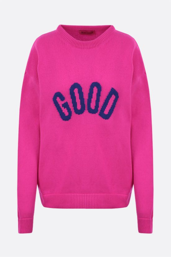 IRENEISGOOD: Good wool cashmere blend pullover Color Purple_1