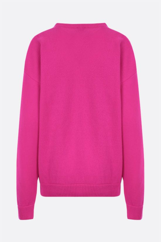 IRENEISGOOD: Good wool cashmere blend pullover Color Purple_2