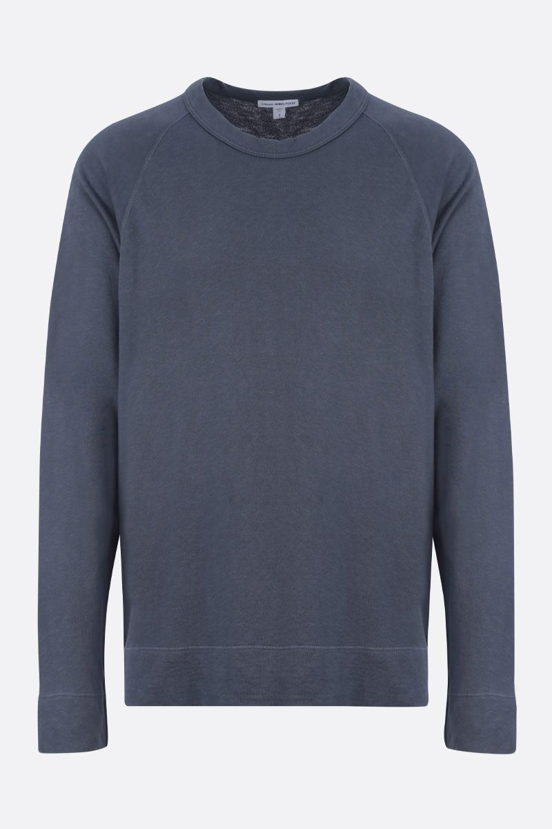 JAMES PERSE: basic cotton sweatshirt Color Blue_1