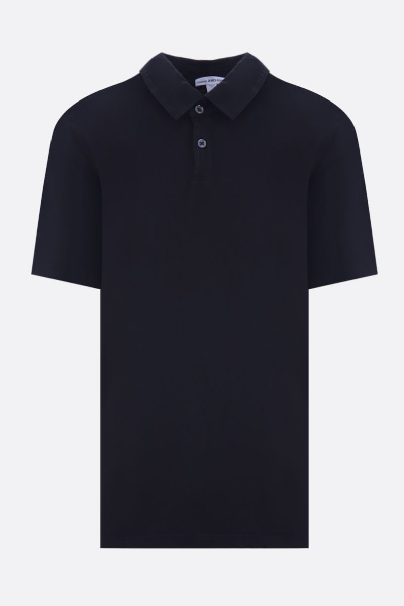 JAMES PERSE: polo regular-fit in jersey di cotone Colore Nero_1