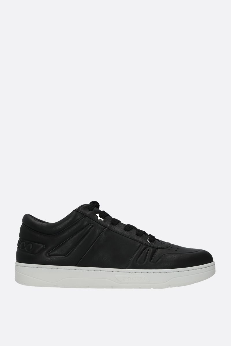 JIMMY CHOO: Hawaii/M smooth leather sneakers Color Black_1
