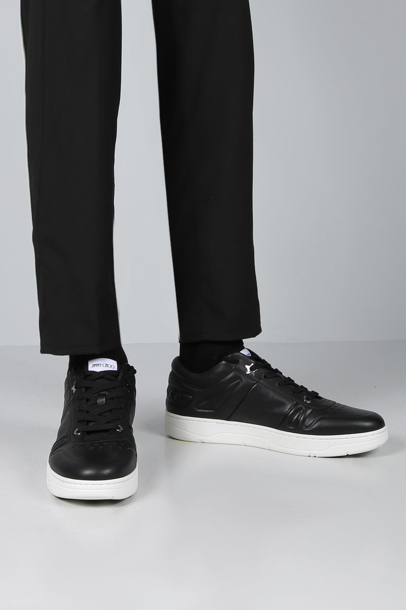 JIMMY CHOO: Hawaii/M smooth leather sneakers Color Black_2