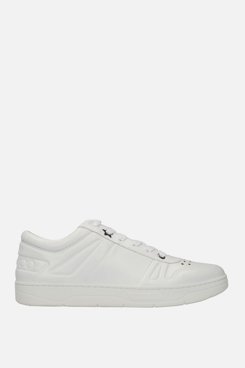 JIMMY CHOO: Hawaii/M smooth leather sneakers Color White_1