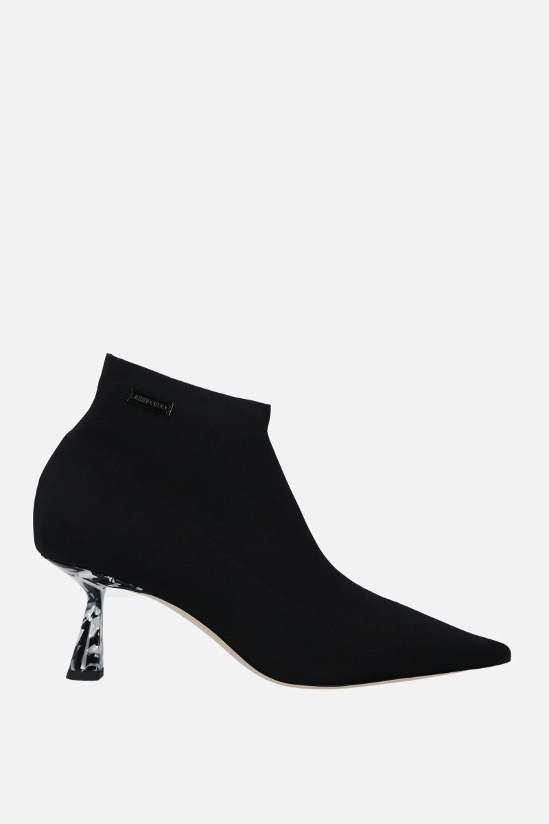 JIMMY CHOO: Saber stretch knit booties Color Black_1