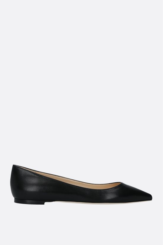 JIMMY CHOO: Romy smooth leather ballerinas Color Black_1