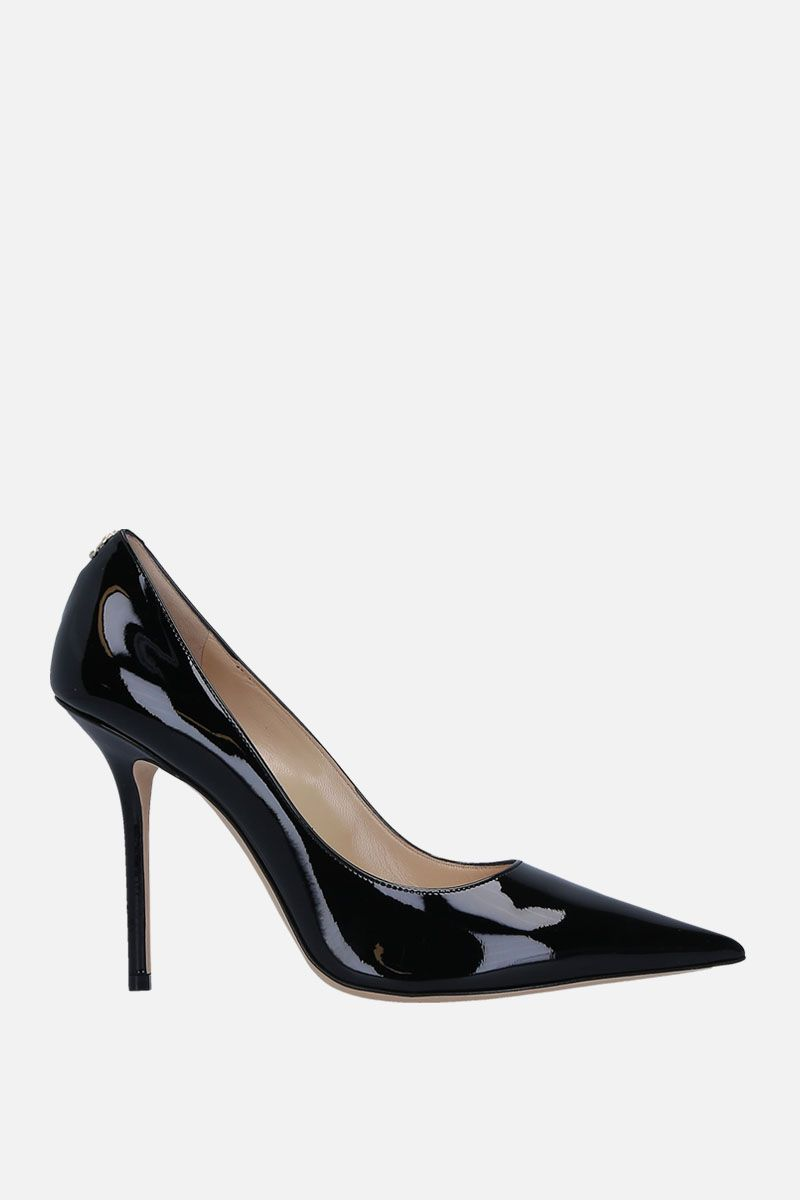 JIMMY CHOO: dècolletè Love in vernice Colore Nero_1