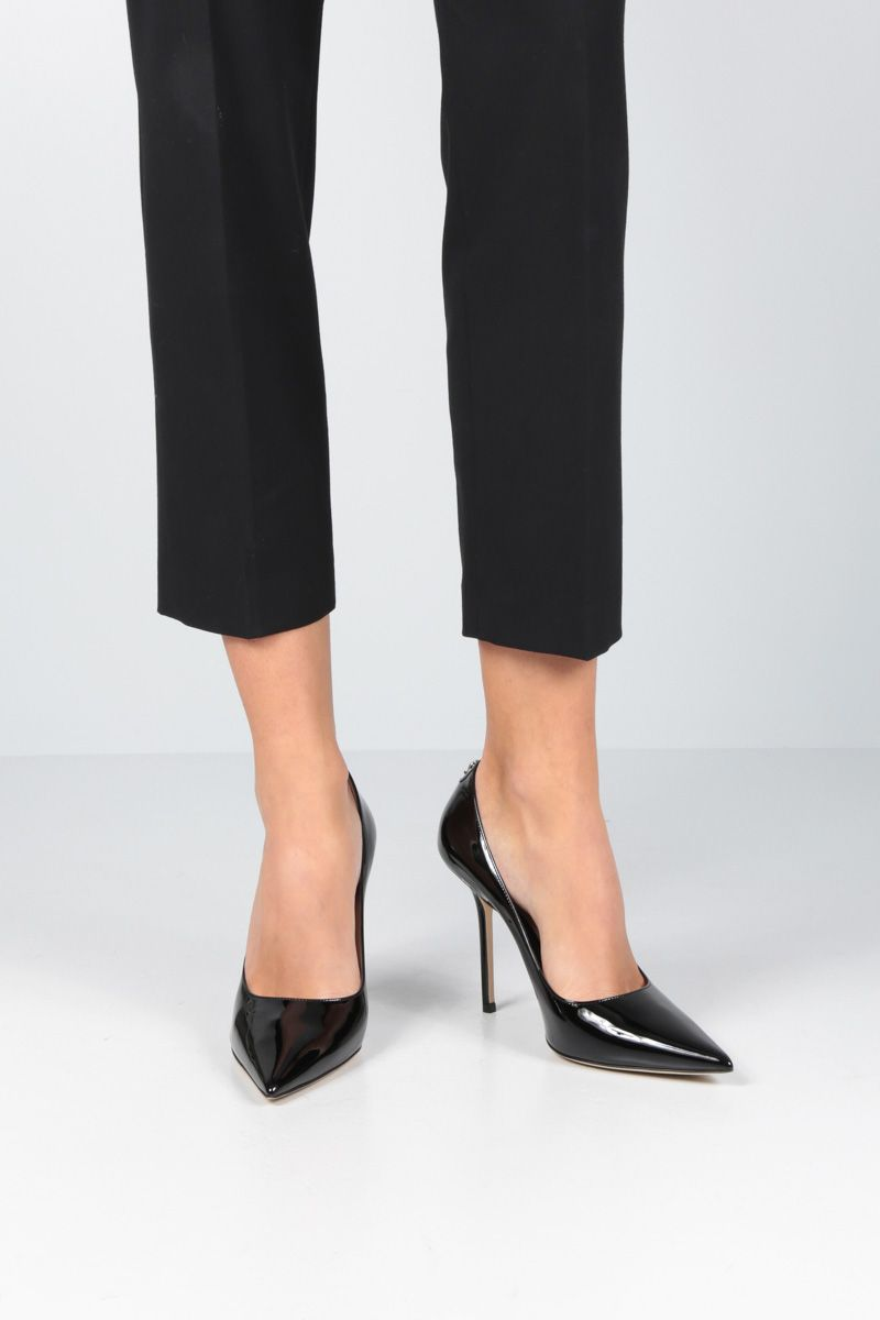 JIMMY CHOO: Love patent leather pumps Color Black_2