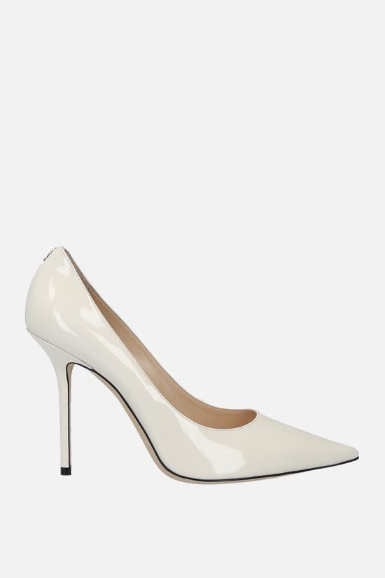JIMMY CHOO: Love patent leather pumps Color White_1
