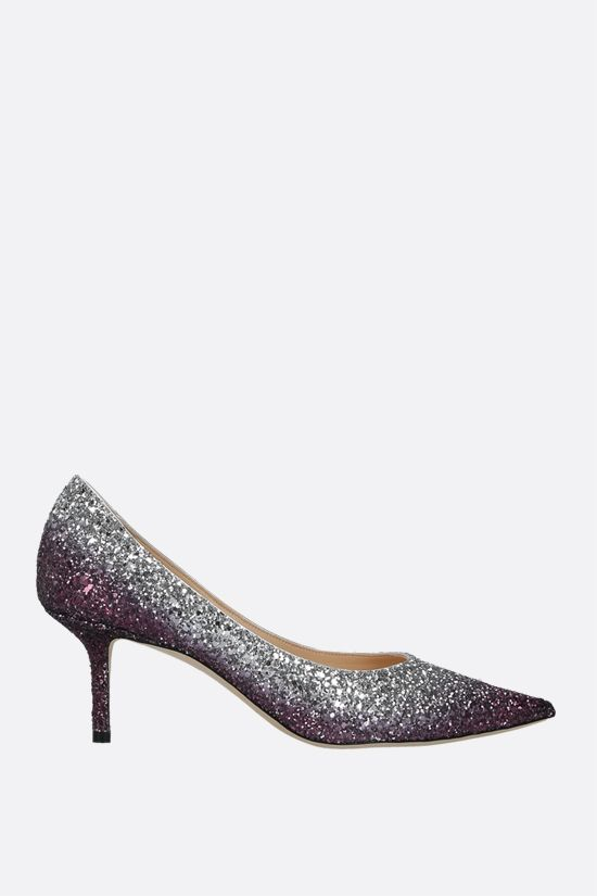 JIMMY CHOO: Love glitter fabric pumps Color Multicolor_1
