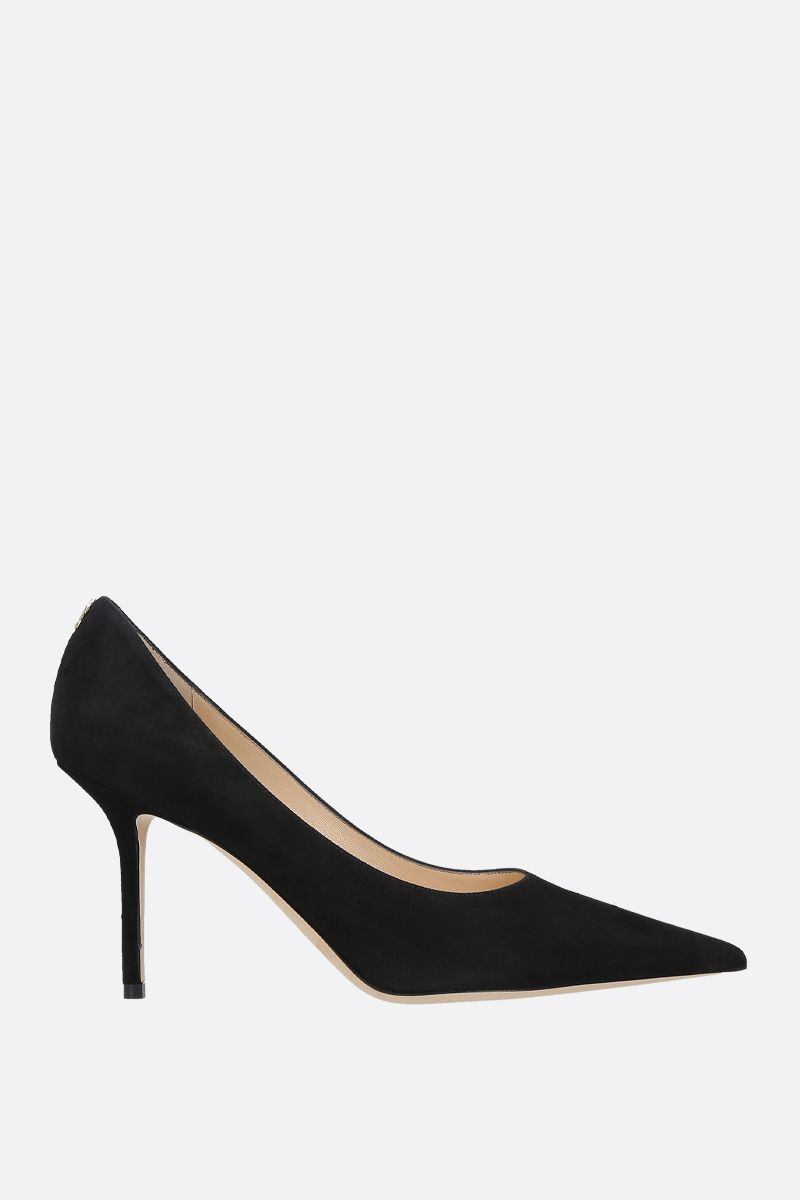 JIMMY CHOO: dècolletè Romy in suede Colore Nero_1